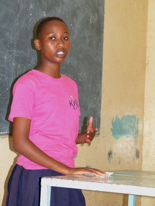 A Student Giving Her Presentation
