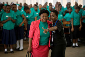 Women from across Tanzania spoke at Career Day