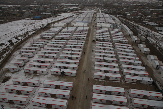 "So called ""container city"" in Van"
