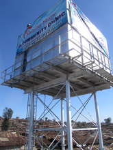New 100,000L clean water tower