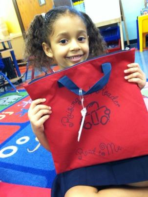 Raising A Reader's little red book bag