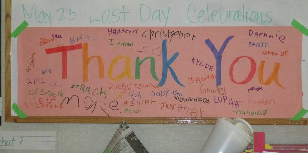 Thank you! from children of Serramonte Head Start