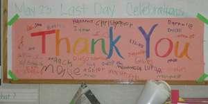 Thank you! from children of Serramonte Head Start