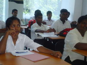 Job training for young people in Sri Lanka