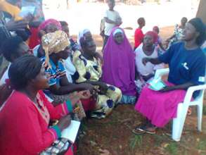 Juliet training other young women in the community