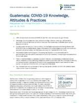 Guatemala COVID-19 Brief (PDF)
