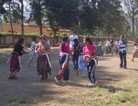 Girls training.