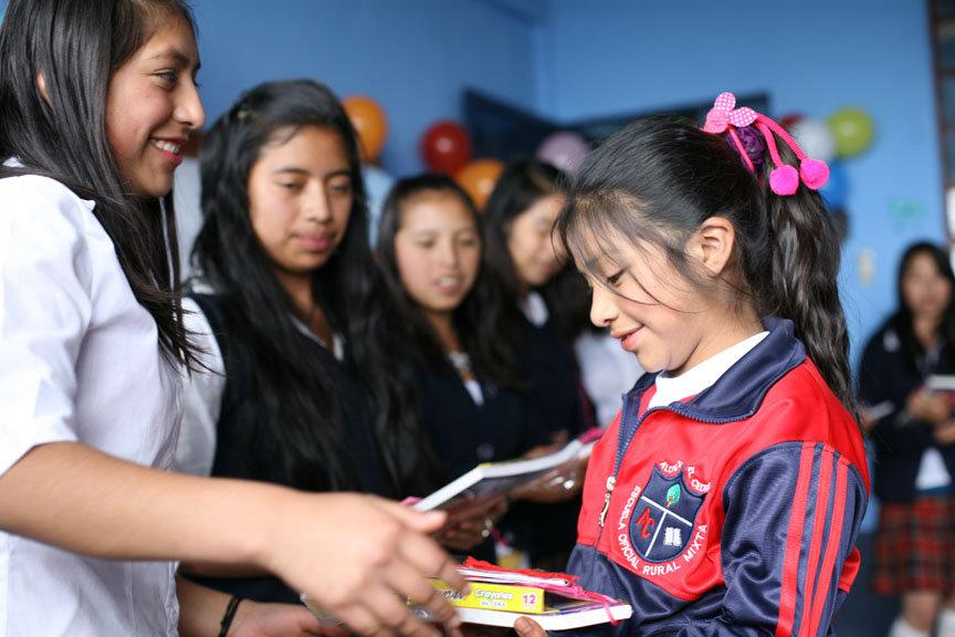 Big & Little Sisters Exchanging Keepsake Books