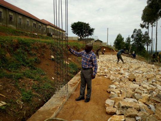 Laying foundation + inspection by Engineer