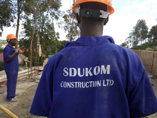 Construction worker at the site
