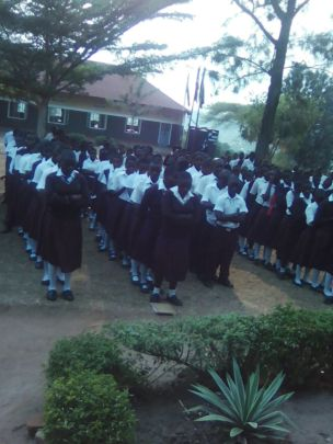 Matale students at school assembly