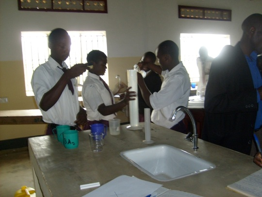 Students Performing a Science Lab Experiment