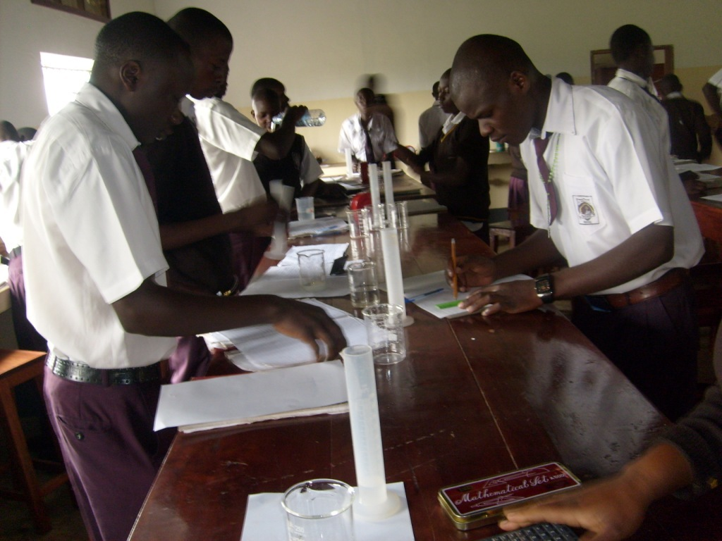 Students Perform a Science Experiment