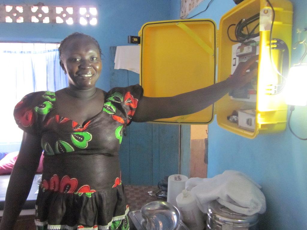 We Care Solar Suitcase in Sierra Leone
