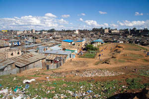 The Mathare slum in Nairobi, Kenya