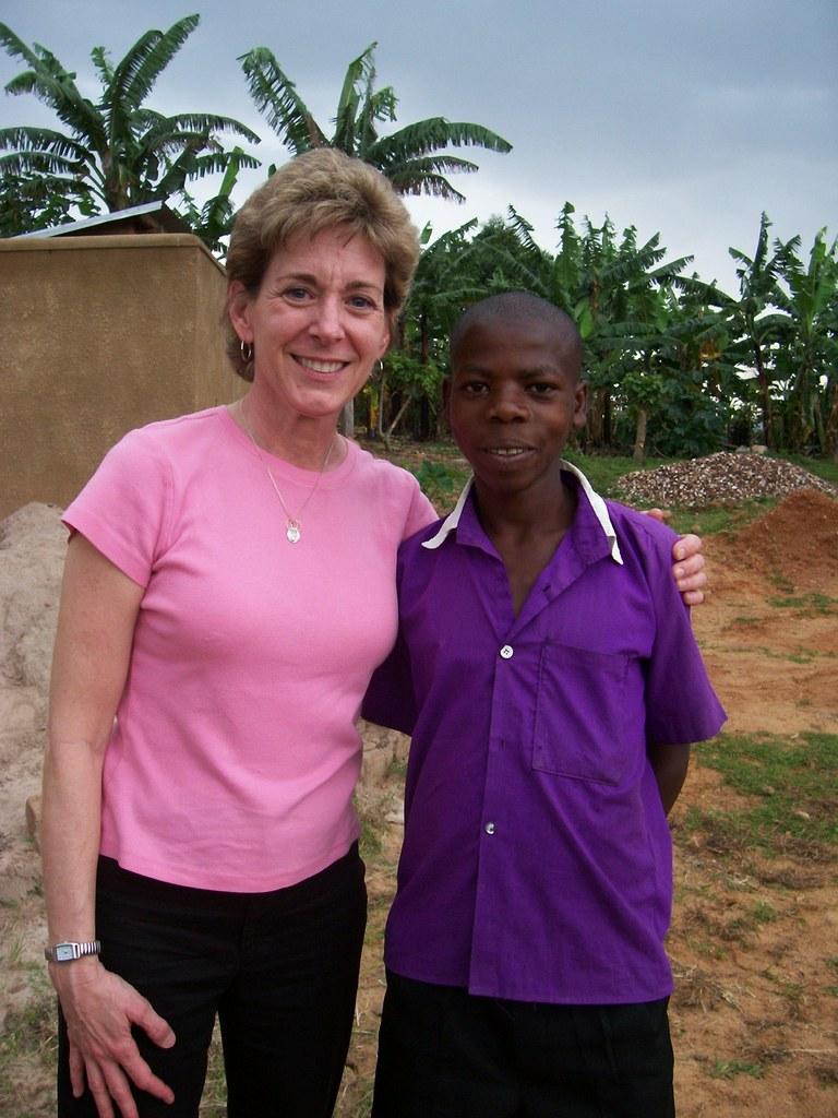 A Rotarian visitor at Nyaka, you can also visit