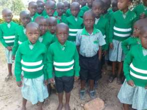 New nursery students at Kutamba Primary School