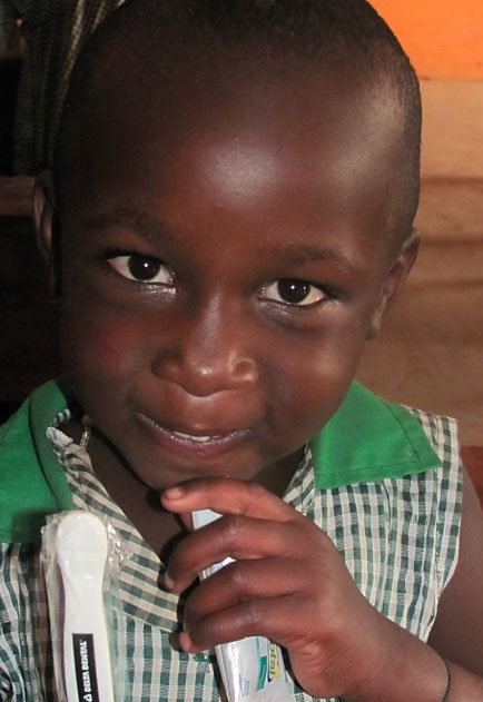 Kutamba Preschooler with Toothbrush