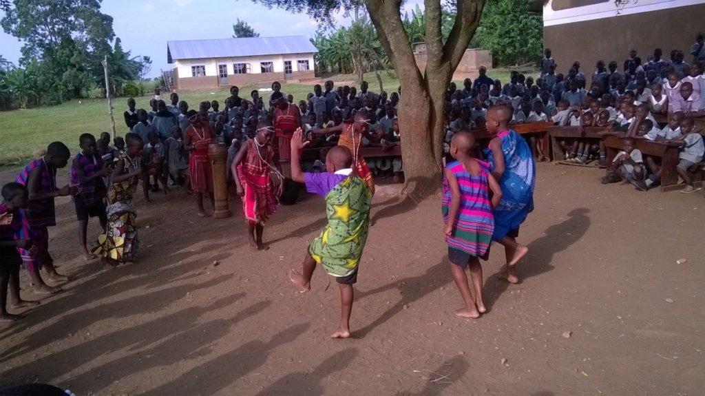 Nyaka Anti AIDS Club members performing