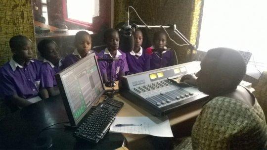 Nyaka Anti AIDS Club at the radio station