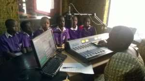 Nyaka Anti AIDS Club at the radio station
