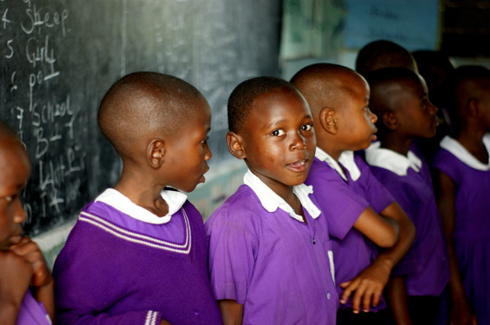 Nyaka Students in their Classroom