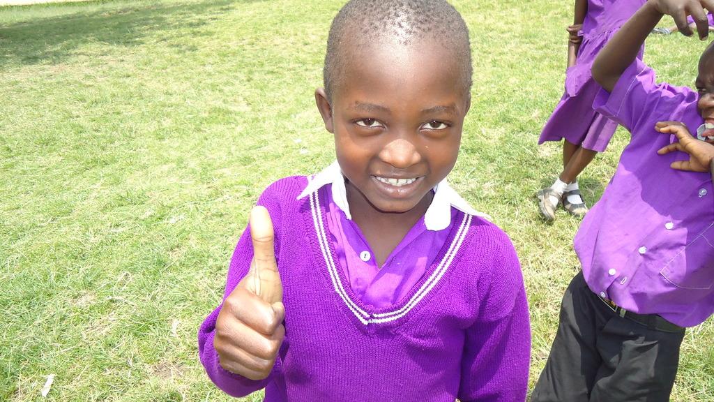 Student at the Nyaka Primary School