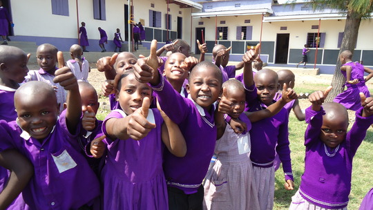 Some of YOUR Nyaka students playing at recess