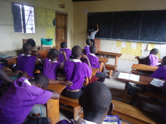Nyaka Primary School Students in Class