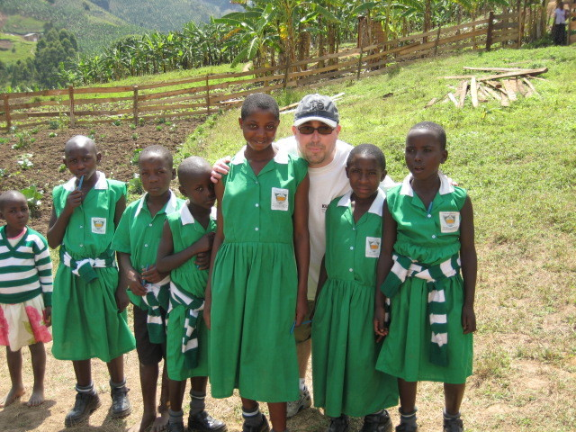 Me with some children at Kutamba, our second school