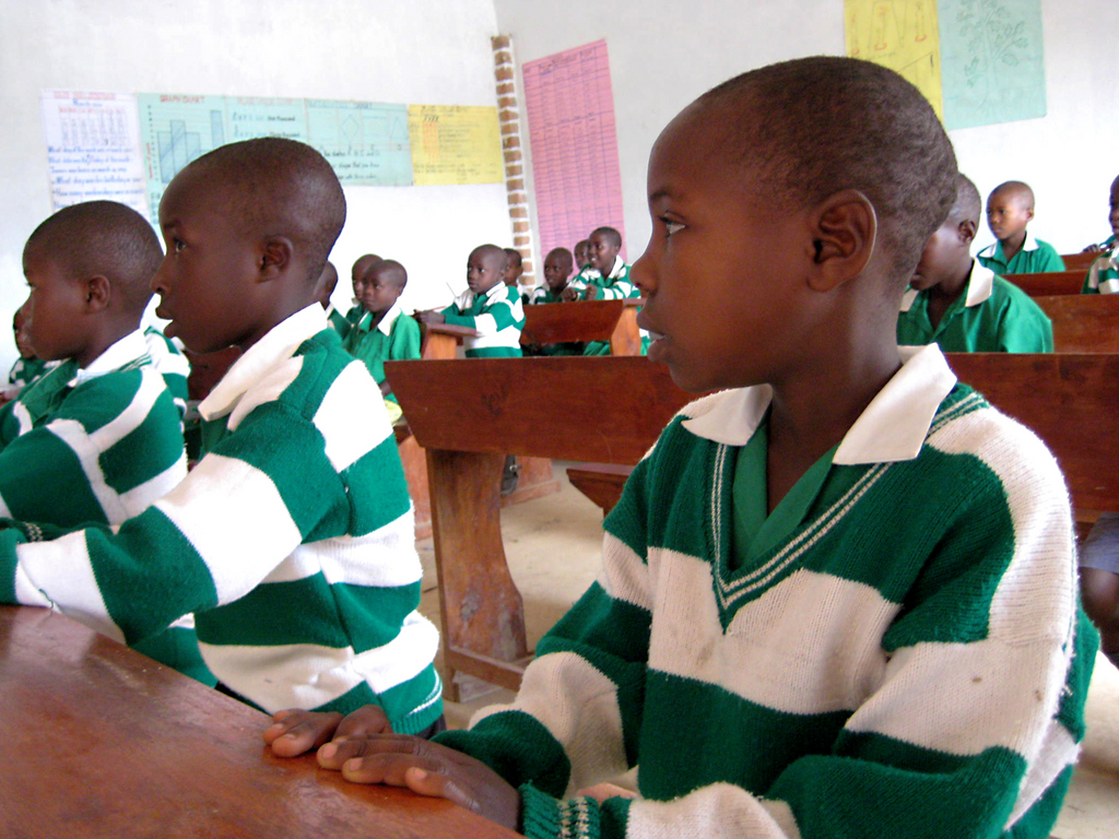 Kutamba Students learning in their new classrooms