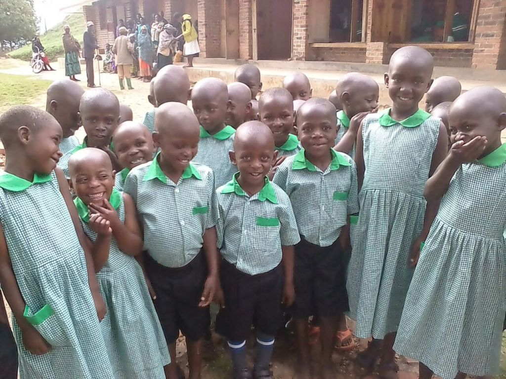 First day of school for Kutamba nursery students
