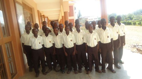 Young men on their first day at NVSS