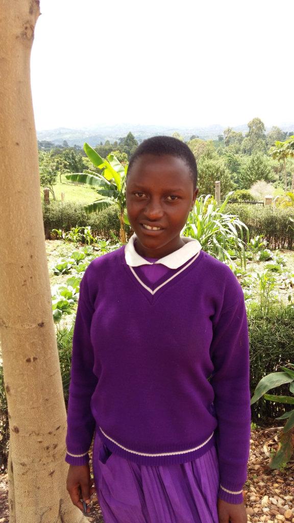 Judith in her school uniform