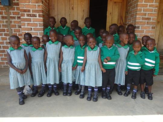 Kutamba Nursery Class in their Uniforms