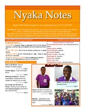 Nyaka Notes Spring Newsletter 2010 (PDF)