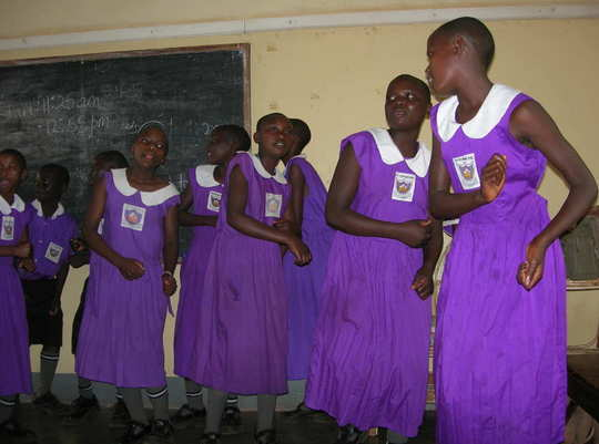 Photo-- Nyaka dancing students