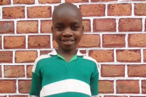 Shallon in his Kutamba Primary School uniform