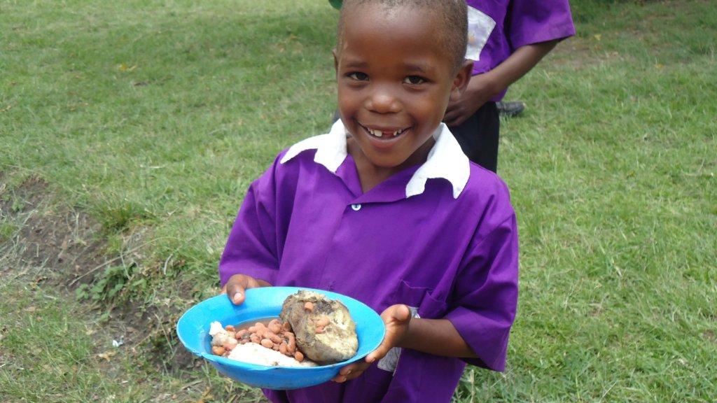 Nyaka student at lunch