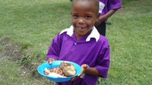 Nyaka student at lunch