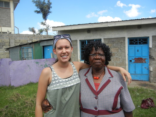 Ali with an educator in Kenya