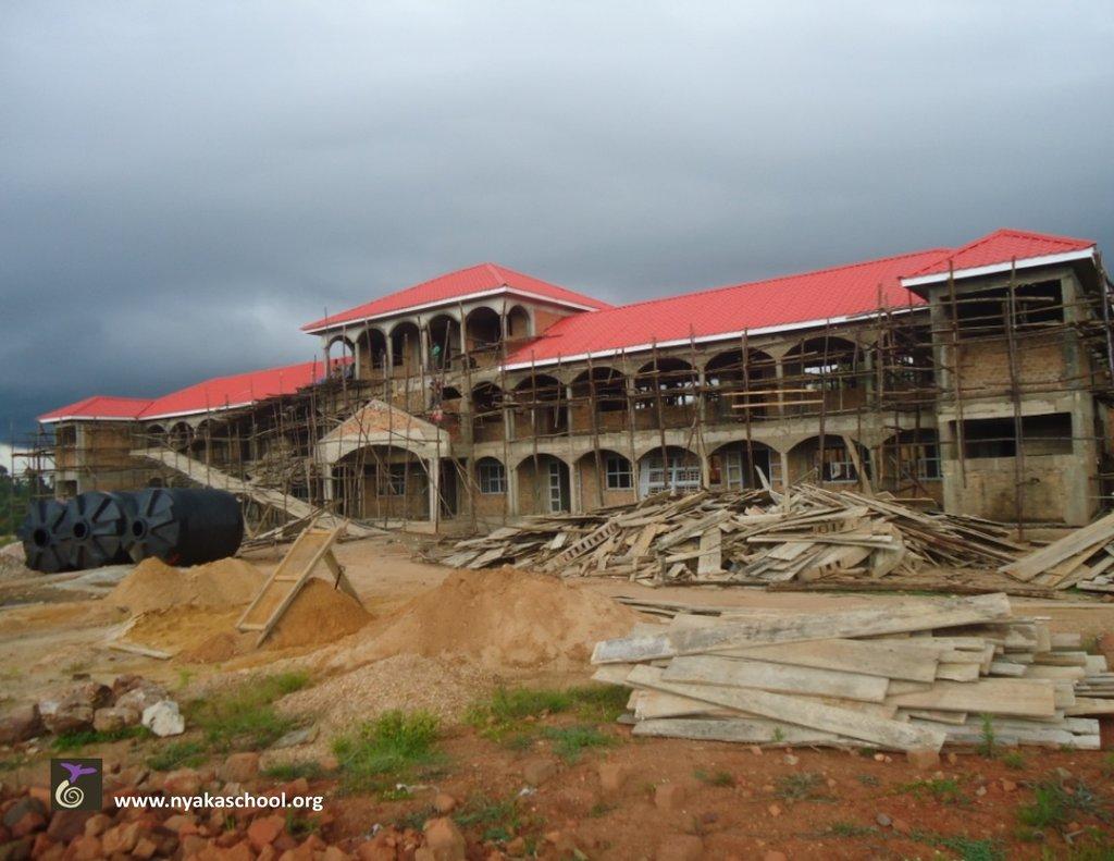 Nyaka Secondary School with New Roof