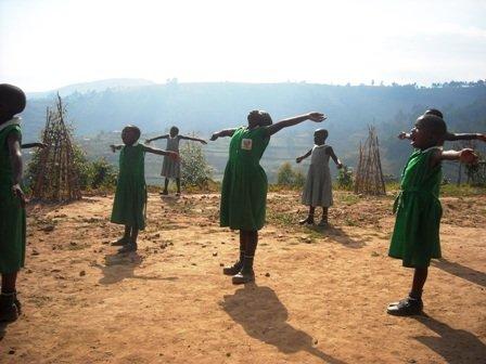 Nyaka Girls Celebrating