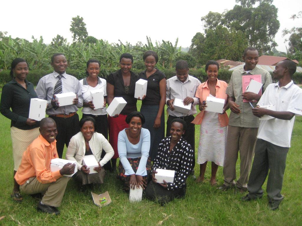 Nyaka Primary School Teachers with New K-Lights!