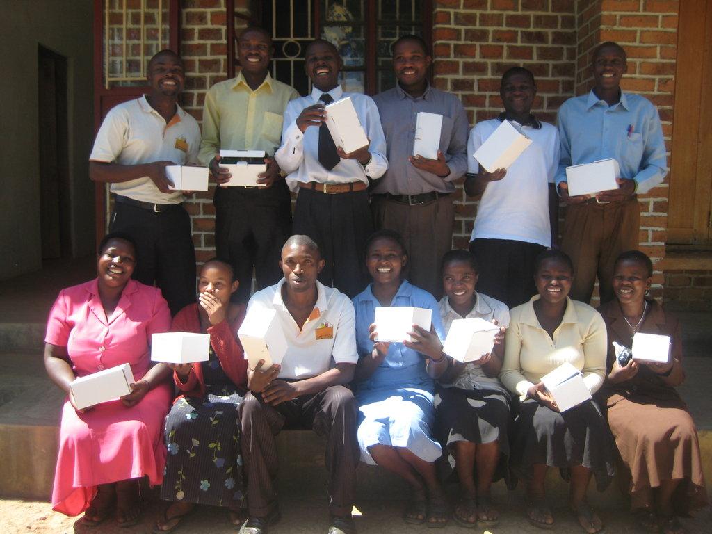 Kutamba Primary School Teachers with New K-Lights!