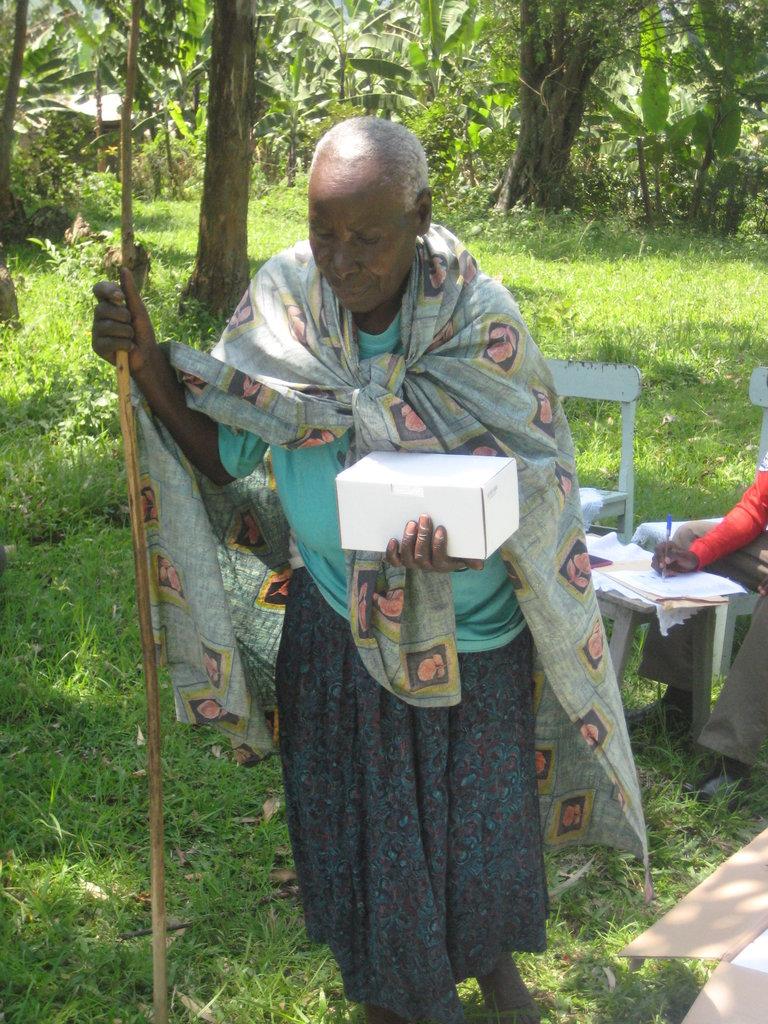 Nyaka Granny with her new solar powered light.