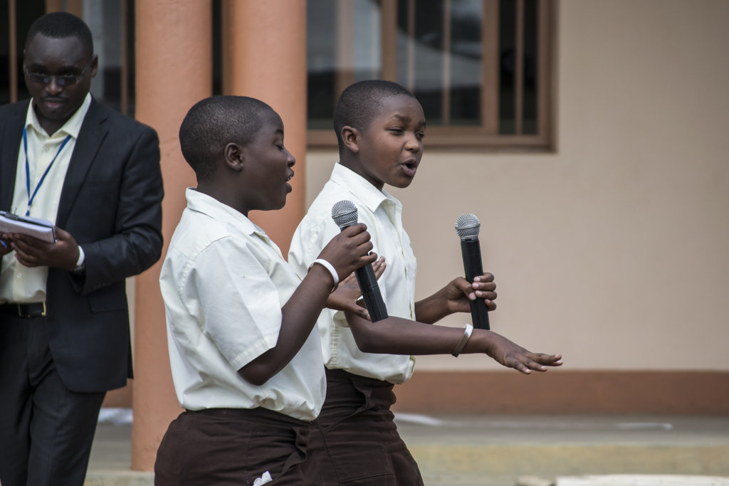 Students presented poems