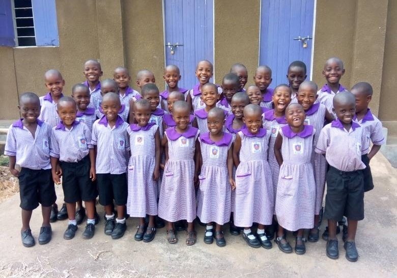 New nursery students at Nyaka Primary School