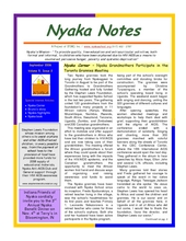 Nyaka Newsletter September 2006 (PDF)