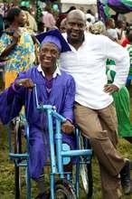 Nyaka Student with Jackson Kaguri